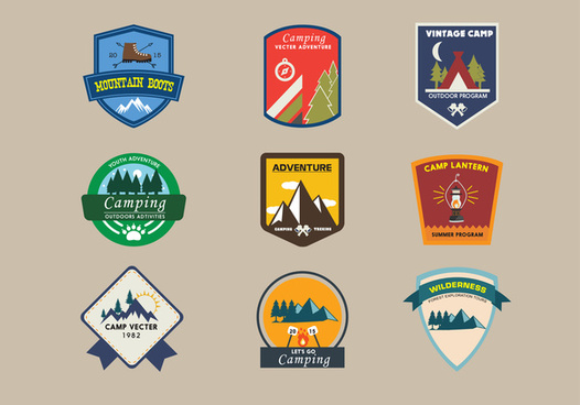 svg royalty free stock Vector emblem mountain. Logo free download