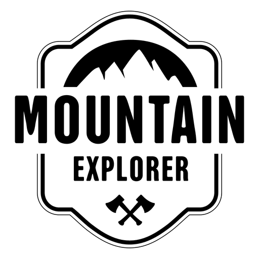 transparent download Explorer badge transparent png. Vector emblem mountain