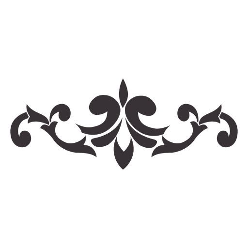 graphic Floral swirls ornament transparent. Vector emblem ornamental
