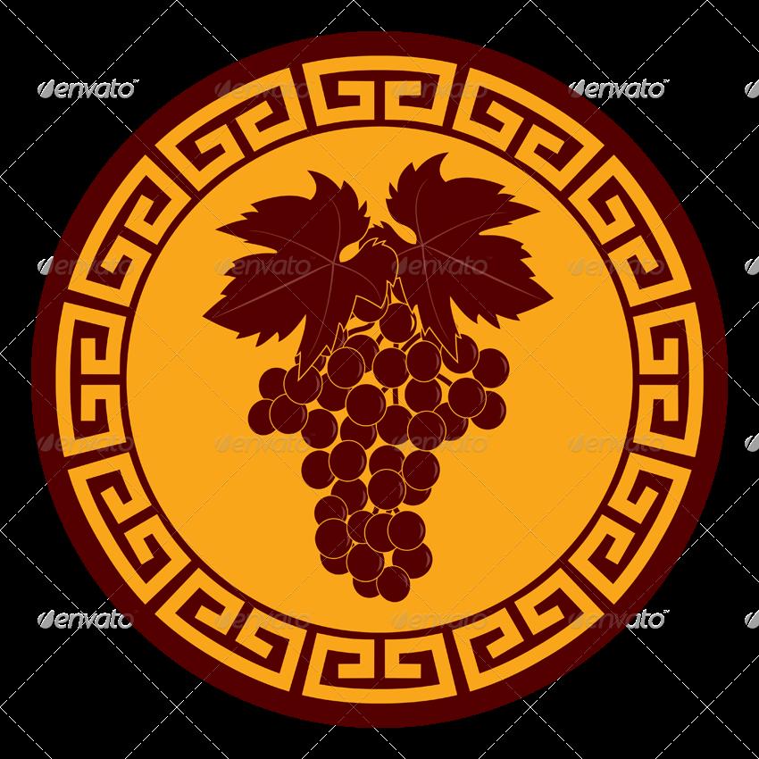 svg black and white stock  greek ornament emblems. Vector emblem ornamental