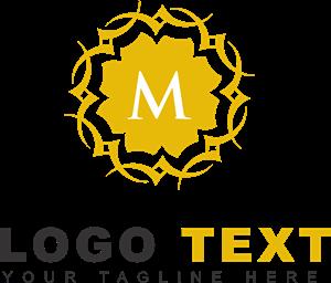 png royalty free Vector emblem ornamental. Letter m logo eps
