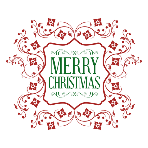 clipart freeuse library Red green christmas transparent. Vector emblem ornate