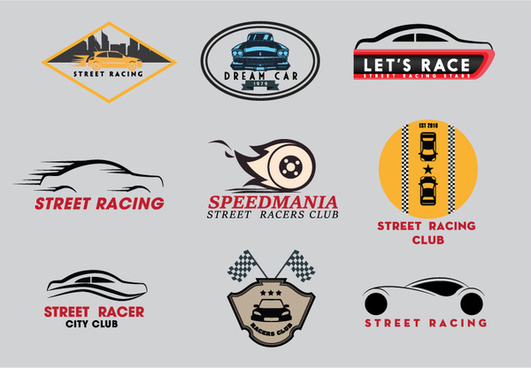 picture free Vector emblem racing. Sports logo free download
