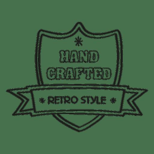 vector transparent download Hand crafted seal transparent. Vector emblem retro design element