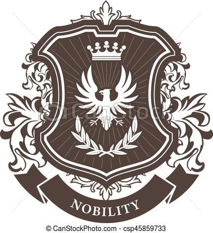 svg royalty free library Vectors of monarchy coat. Vector emblem royal