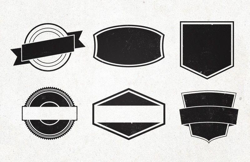 graphic freeuse library Vintage shapes design . Vector emblem shape