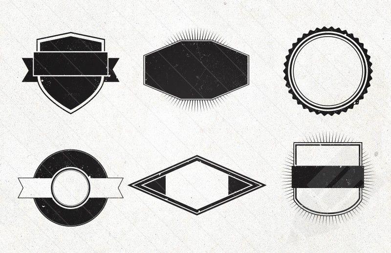 clip transparent stock Vintage shapes free graphics. Vector emblem shape