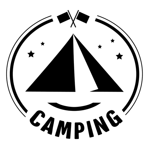 transparent library Camping badge transparent png. Vector emblem simple