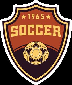 clip art library Vector emblem soccer. Logo eps free download
