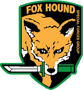 transparent download Vector emblem special force. Fox hound forces group