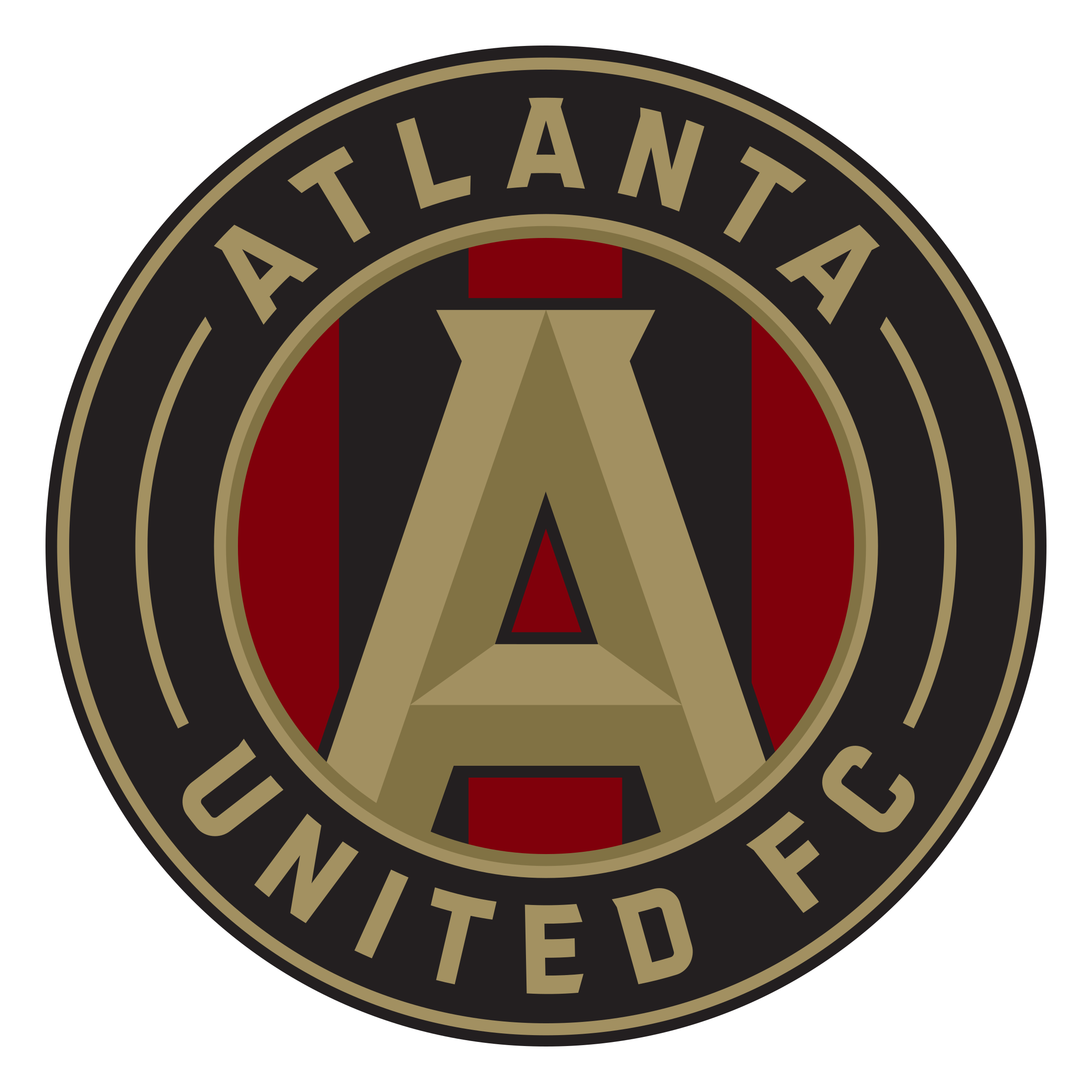 picture black and white library Vector emblem stripes. Atlanta united fc logo