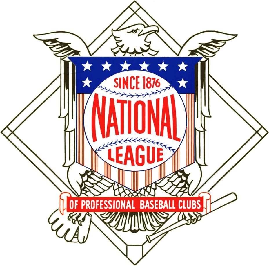 clip transparent stock National league primary logo. Vector emblem stripes