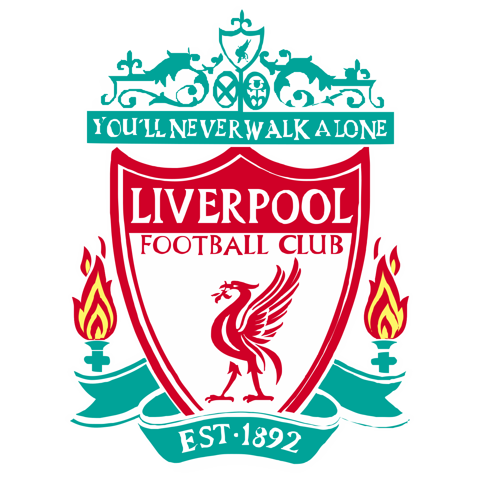 image free Vector emblem style. Liverpool fc icon free