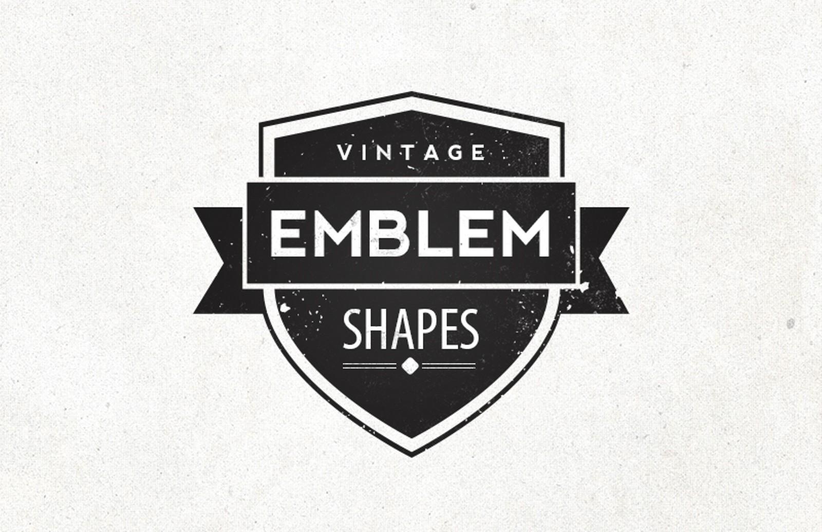graphic library Vector emblem vintage. Shapes