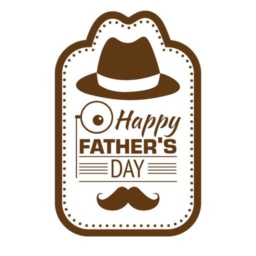 clipart free stock Fathers day happy transparent. Vector emblem vintage