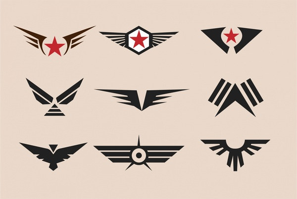 svg free Vector emblem vintage military. Badges collection design with