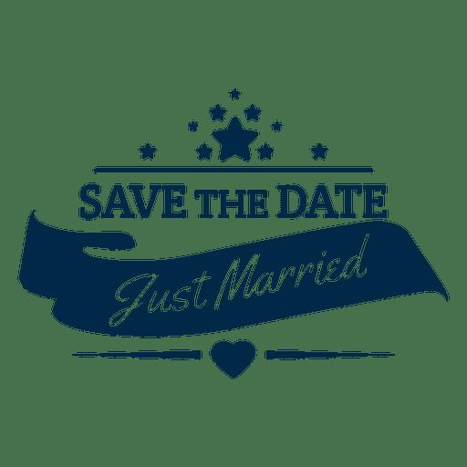 image royalty free download Just married badge transparent. Vector emblem wedding