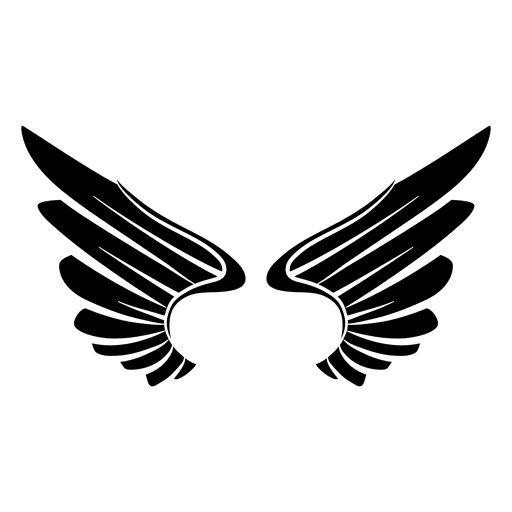 graphic royalty free download  open logo wings. Vector emblem wing