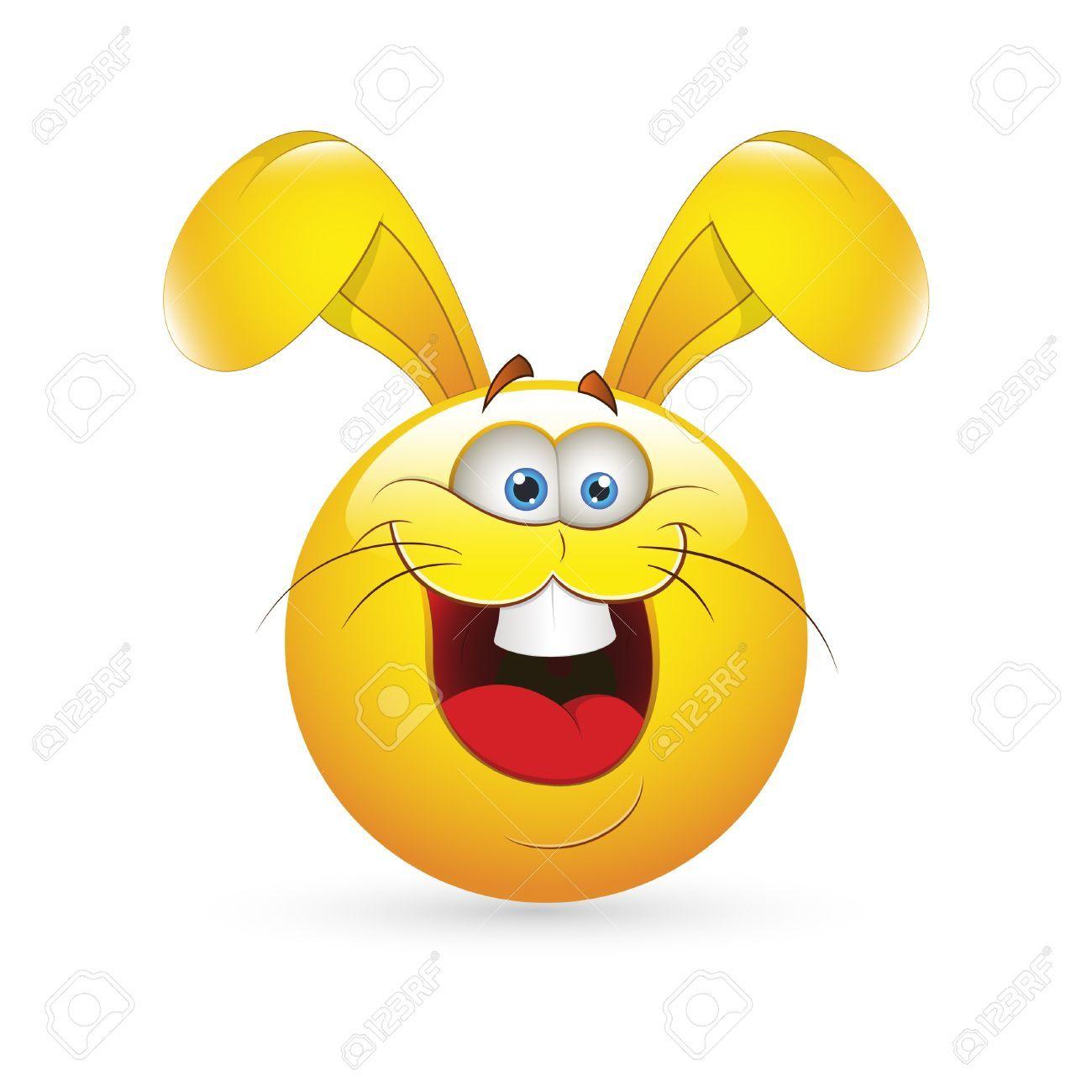 clip art library download Stock easter smiley emoji. Vector emojis bunny