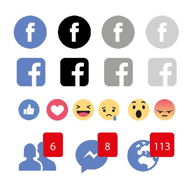 svg transparent download Facebook icon logo social. Vector emojis calendar