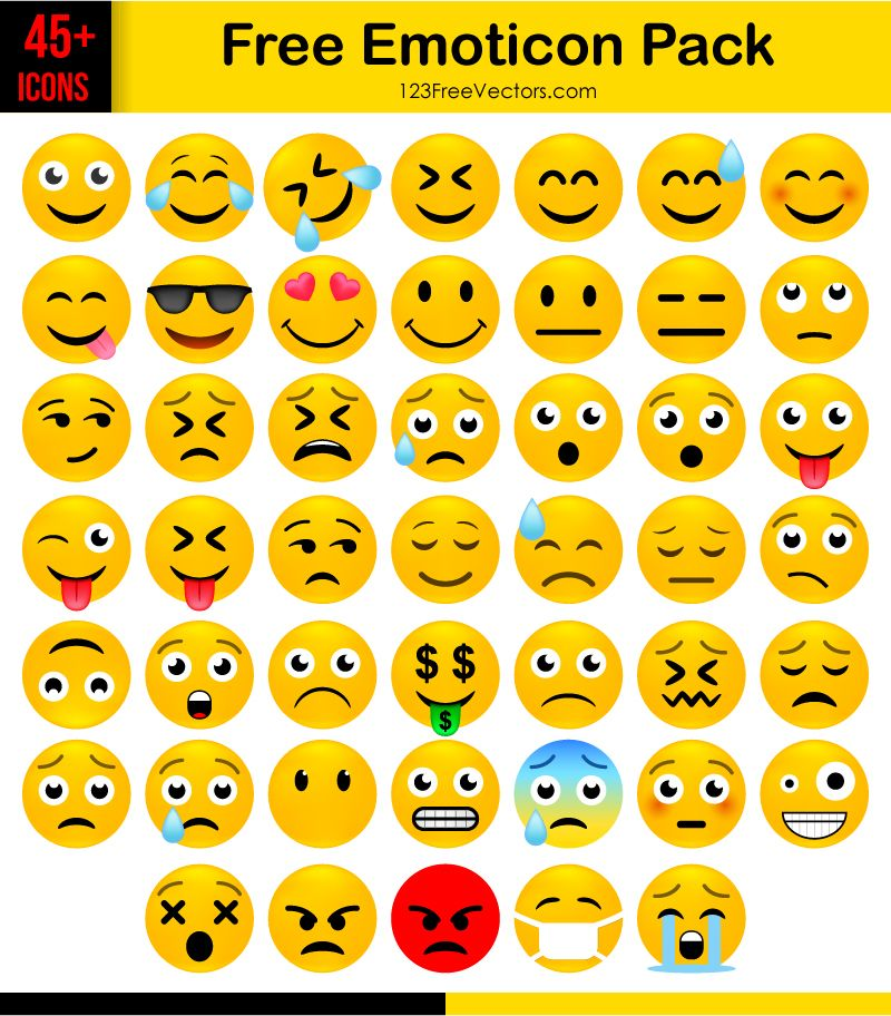 png free stock Free emoticon icons pack. Vector emojis calendar
