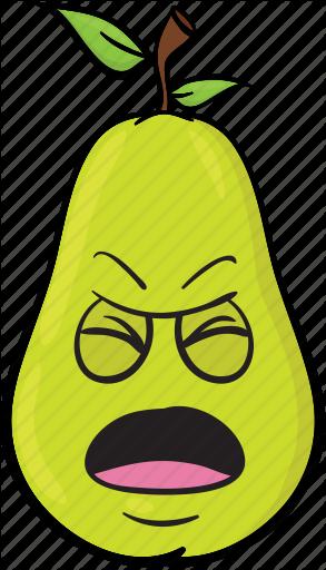 jpg library download Pear emoji cartoons by. Vector emojis cartoon