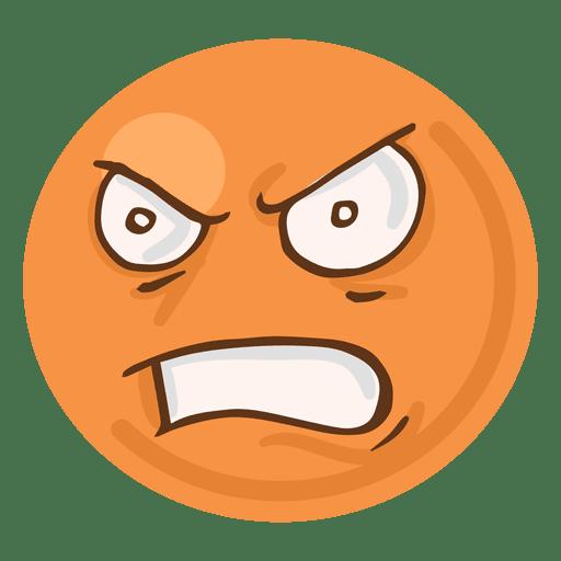 svg royalty free library Vector emojis cartoon. Angry rage face emoji