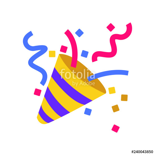 svg freeuse stock Party popper emoji stock. Vector emojis celebration