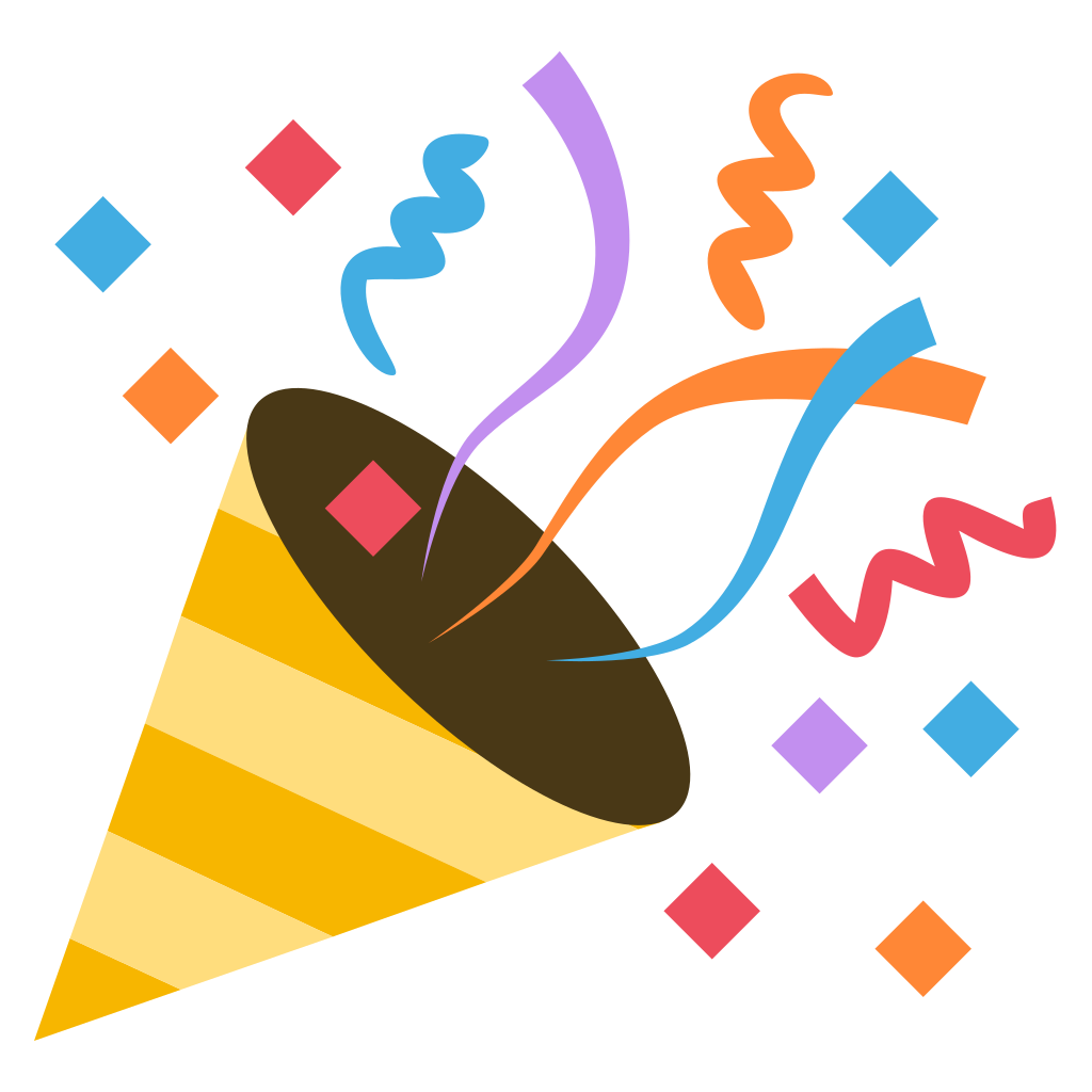clip art free download Vector emojis celebration. File emojione f svg