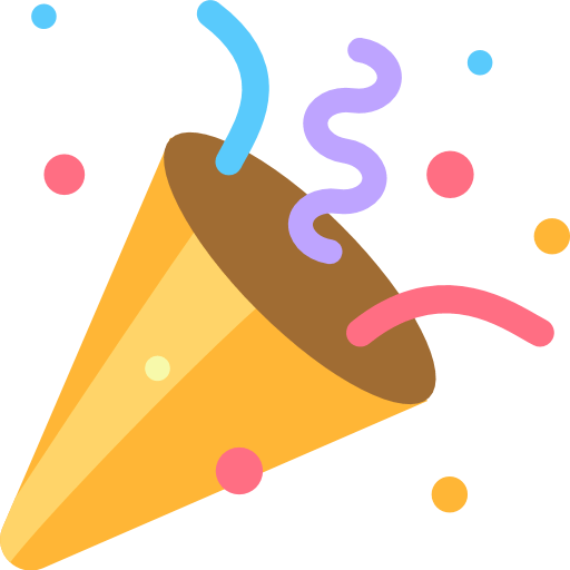 image freeuse stock Party popper emoji for. Vector emojis celebration