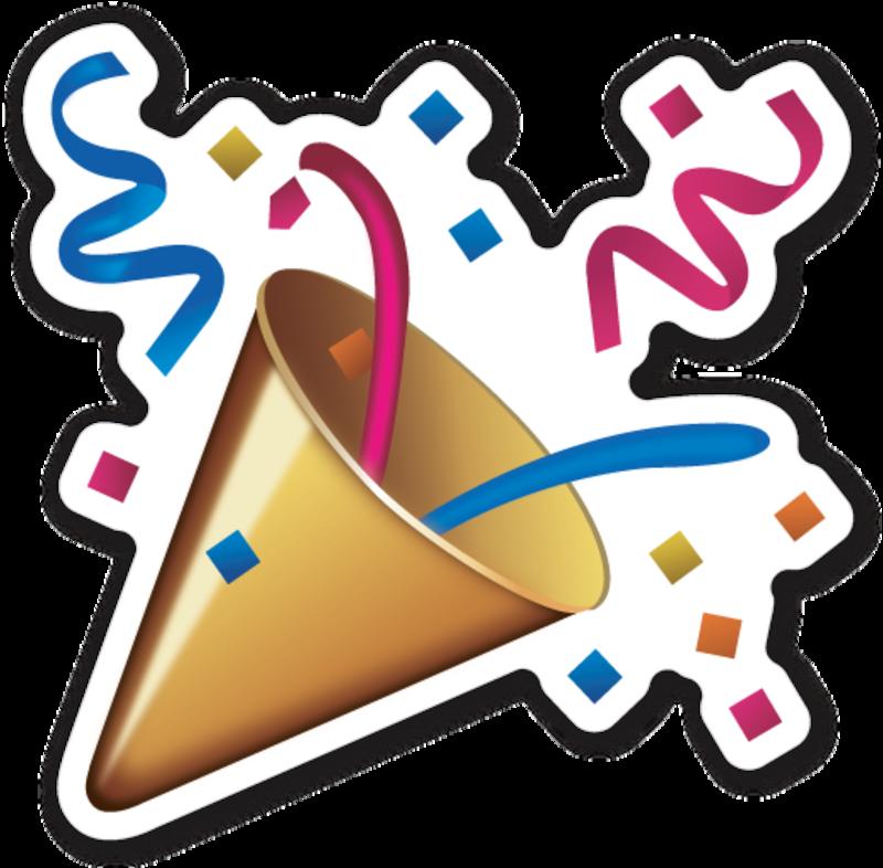 svg library download  party popper emoji. Vector emojis celebration