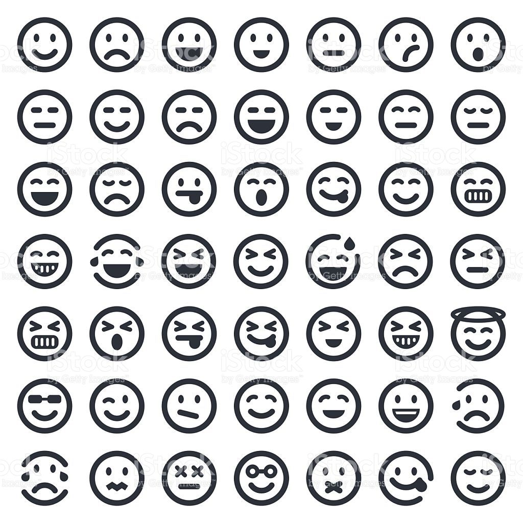 clip art royalty free download Image result for emoji chart black and white