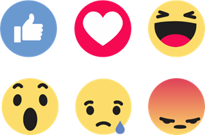 png stock Facebook like reactions logo. Vector emojis downloadable