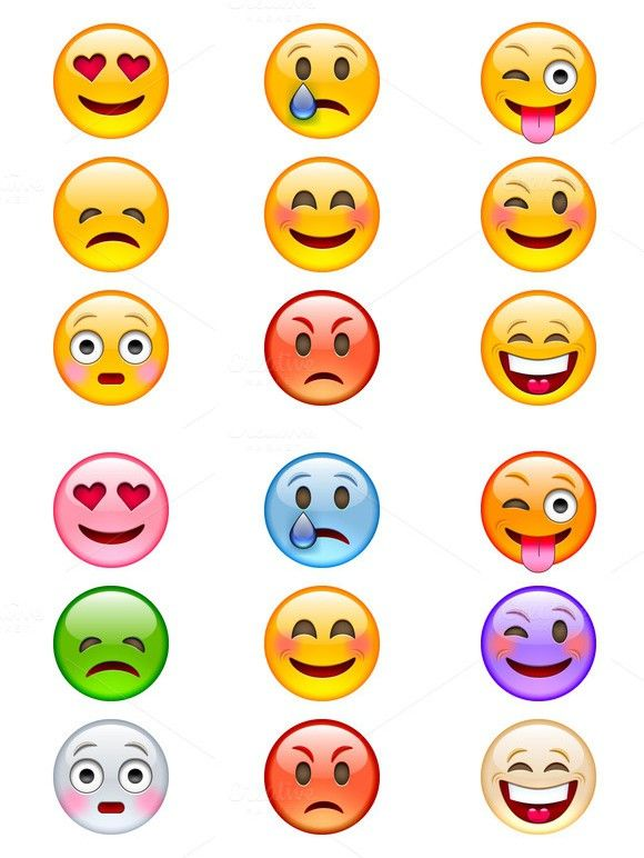graphic black and white library Vector emojis emoji icon. Colorful icons