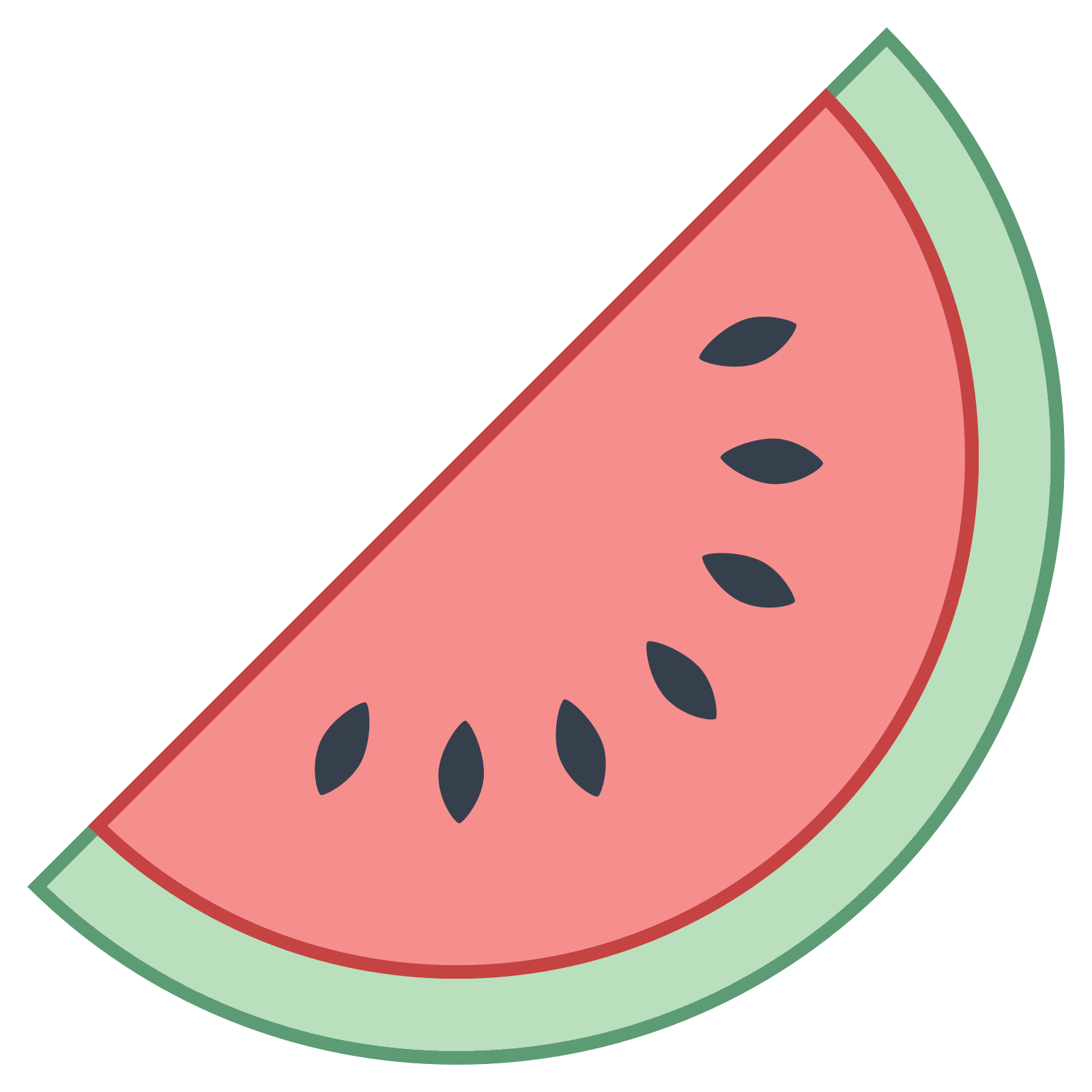 clip free library Watermelon icon free download. Vector emojis fruit