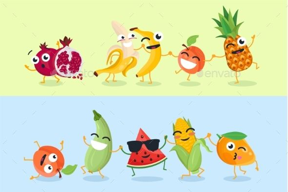 graphic black and white download Vector emojis fruit. Funny and vegetables set