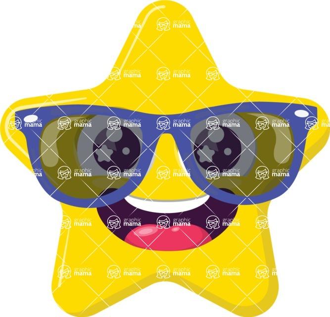 freeuse stock Vector emojis hipster. Emoji creator design bundle