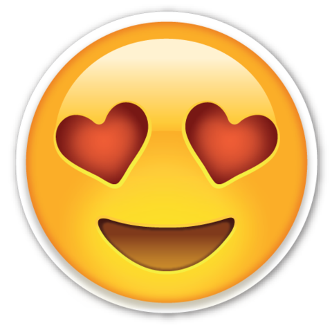 png transparent Smiling Face with Heart Shaped Eyes