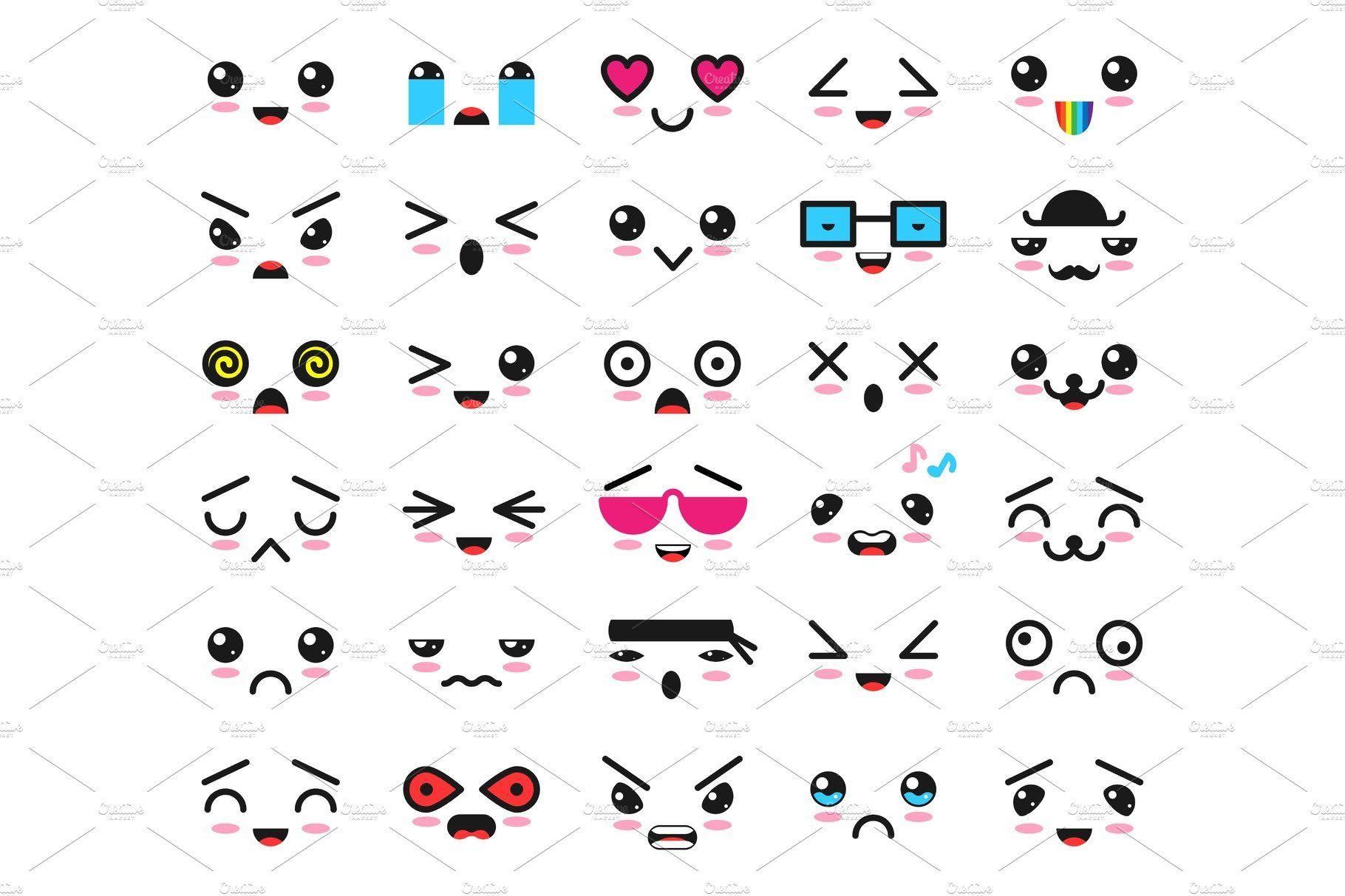 png royalty free download Emoticon cartoon emotion character. Vector emojis kawaii