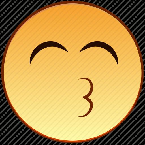 jpg royalty free library Smiley emoticons by kir. Vector emojis kiss