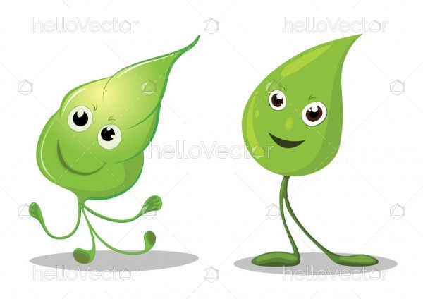 clip art transparent download Vector emojis leaf. Happy leaves cartoon characters