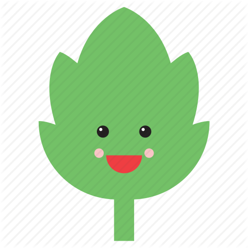 clip library stock Nature by beguima emoji. Vector emojis leaf