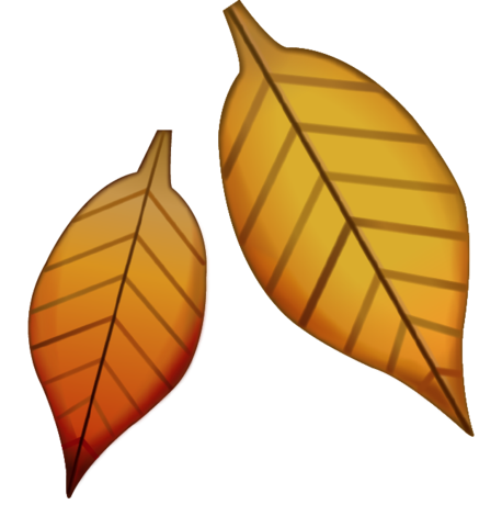 svg freeuse stock Fallen emoji . Vector emojis leaf