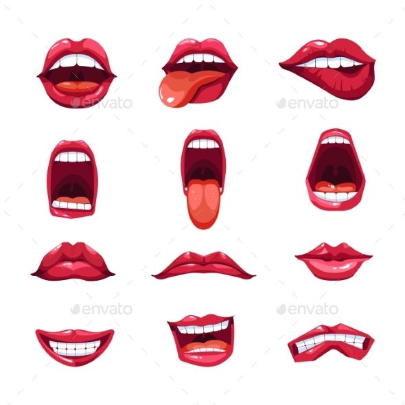 svg transparent library Vector emojis lipstick. Mouth lips and tongue
