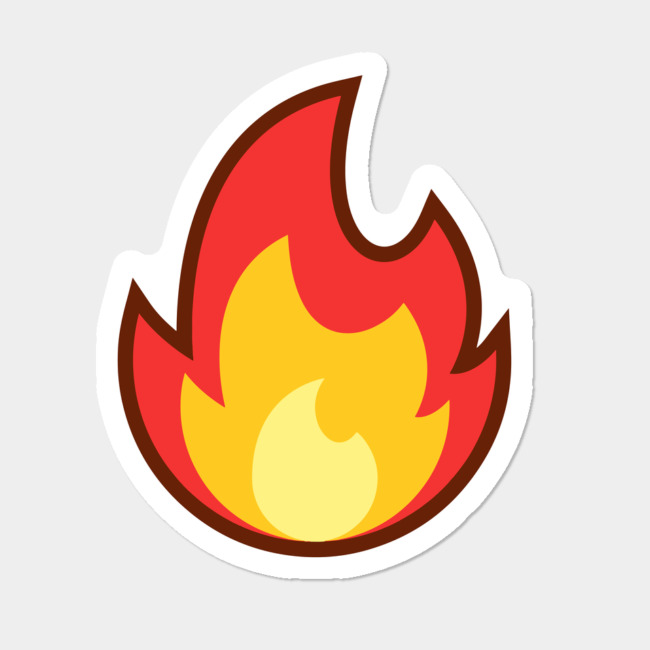 vector library Fire emoji sticker by. Vector emojis lit