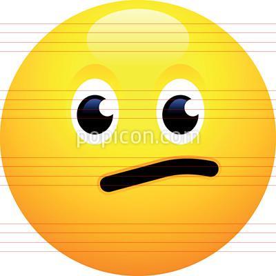 library Face emoji . Vector emojis meh