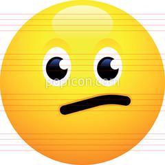 library Vector emojis meh. Face emoji