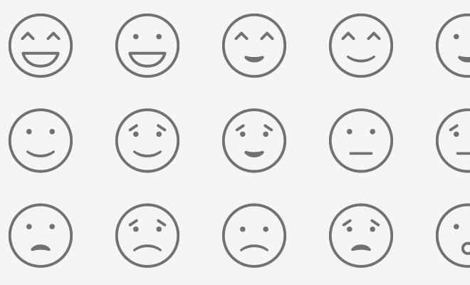 clipart black and white stock Vector emojis minimalist. Emoji icon set free