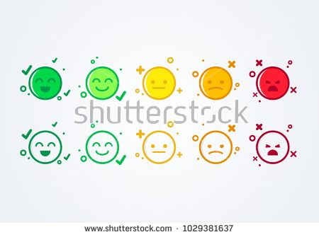 picture black and white stock Vector emojis mood. Illustration user experience feedback