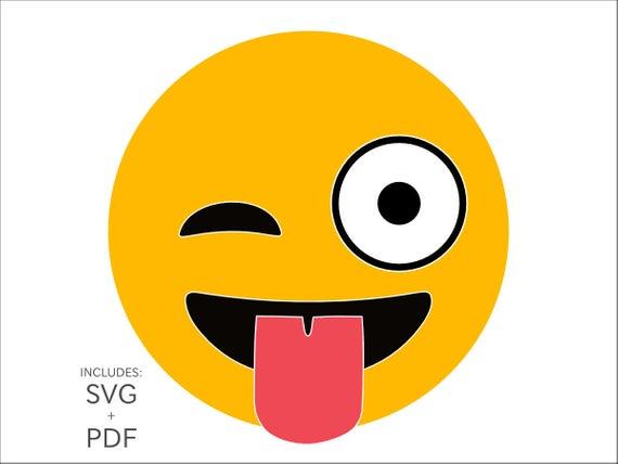 picture free library Vector emojis pdf. Royalty free winking emoji